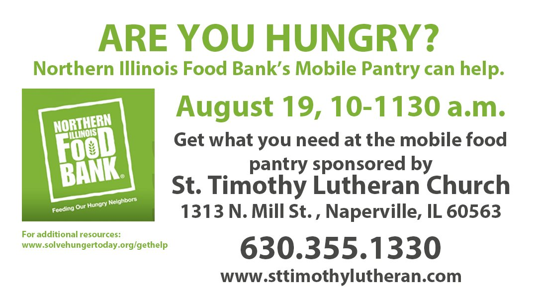 TODAY – Northern Illinois Food Bank at St. Timothy